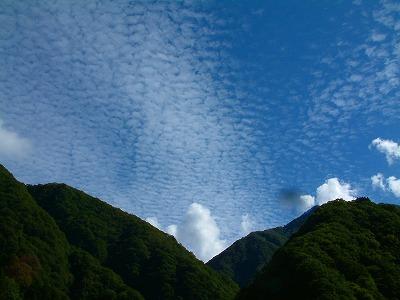 黒部のうろこ雲
