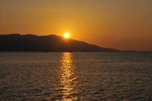 淡島から見るサンセット
